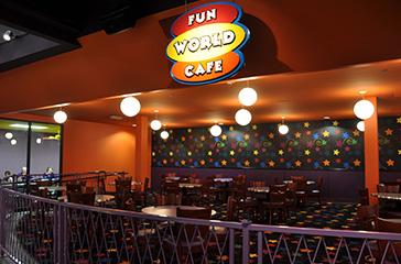 dining room alongside Fun World