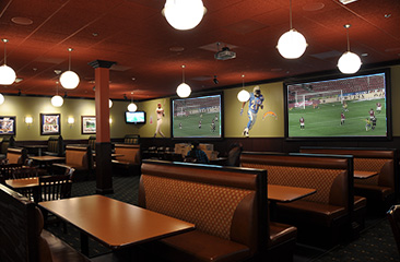 sports themed dining room