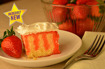 Seasonal Dessert Strawberry Swirl Cake