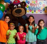 Incredibear at a birthday party