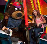 Incredibear on a ride