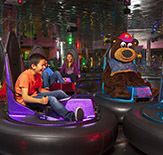 Children playing bumper cars