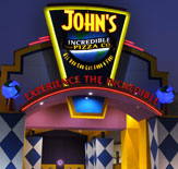 Front entrance of Johns Incredible Pizza