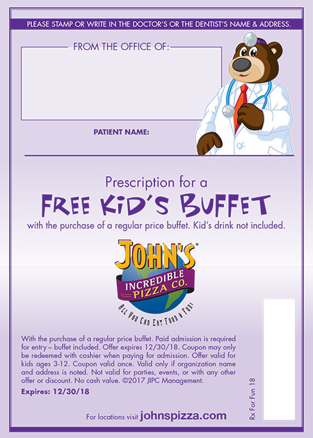 Free Kids Buffet Voucher