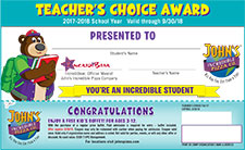 Teachers Choice Award